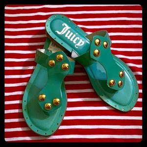Juicy Couture NWT Turquoise Leather Sandals